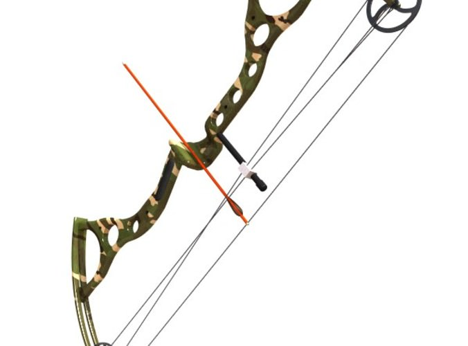 compound bow 3d model 3ds lwo lw lws 3