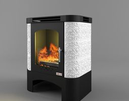 fireplace weimar rigged 3d model