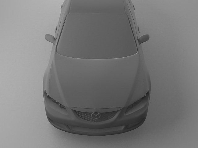 3d model of mazda 6 3d model max 3ds dwg w3d 1
