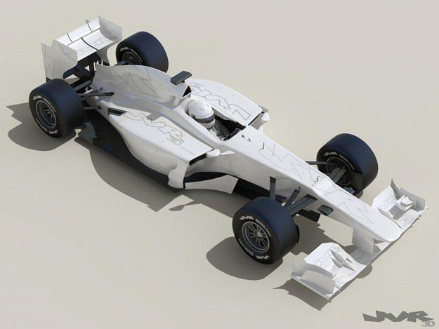 generic f1 2013 race car 3d model max obj mtl 3ds fbx pdf 1