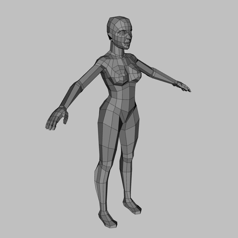 3D model Low Poly Female Base Mesh   CGTrader