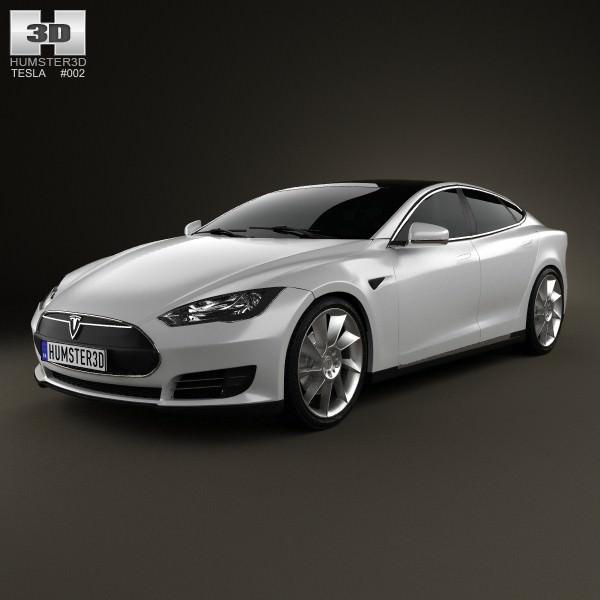 3d 2012 Tesla Roadster Sport