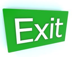 VR / AR ready 3d asset exit sign