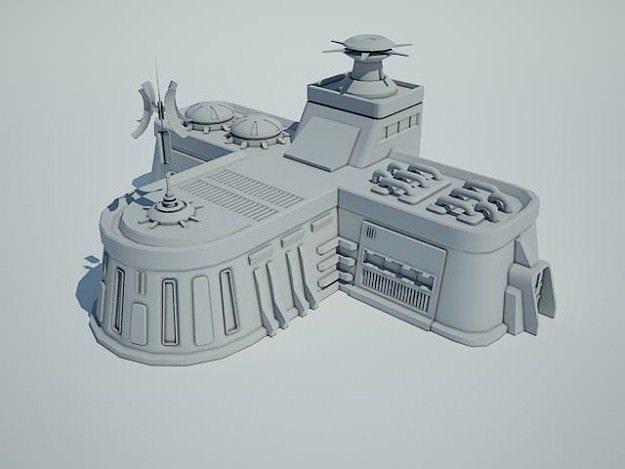 Industrial Sci Fi House Design