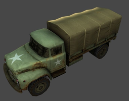 game-ready 3d asset army truck