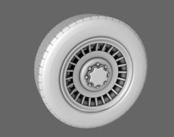 Car Van Tires Standard 3D Model