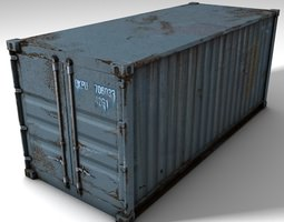 3D asset Low Poly Cargo Container