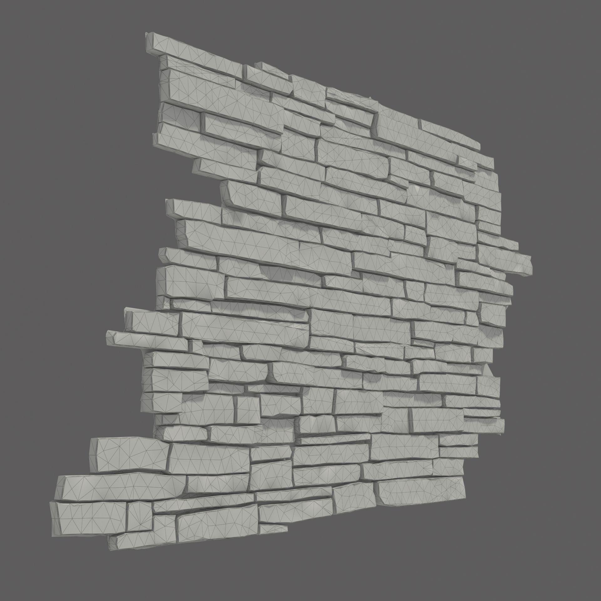 Wall Decoration 3d Model Free Download : Masonry stone wall d model max obj fbx cgtrader