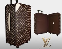 Louis Vuitton luggage bag 3D Model