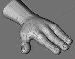 Cartoon hand 3D