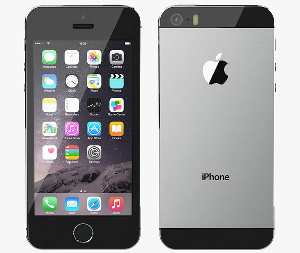 space gray iphone 5s 3d model apple iphone 5s space gray cgtrader 4369