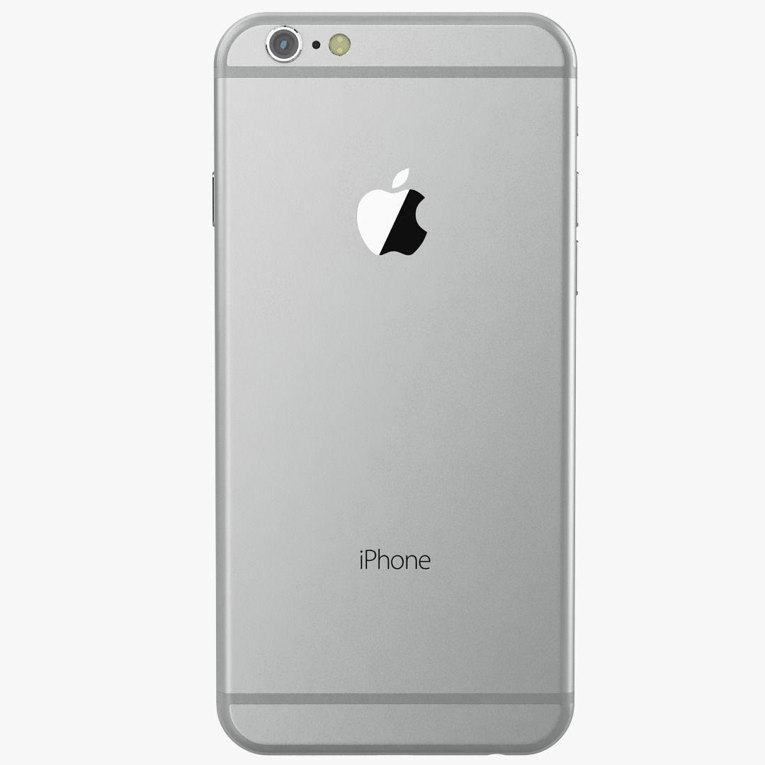 Apple iPhone 6 Silver 3D Model MAX OBJ | CGTrader.com