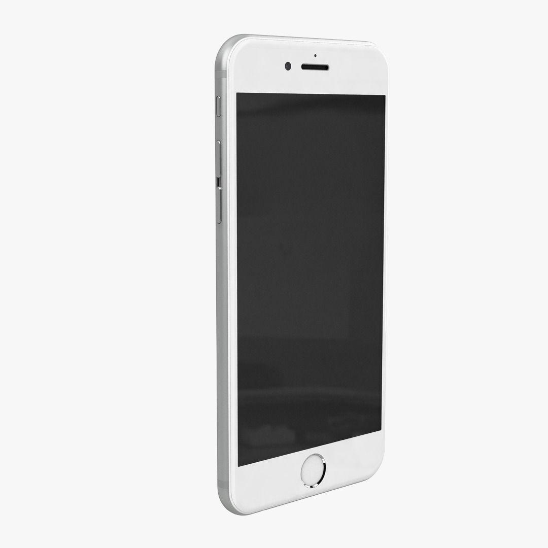 apple iphone 6 silver 3d model max obj. Black Bedroom Furniture Sets. Home Design Ideas