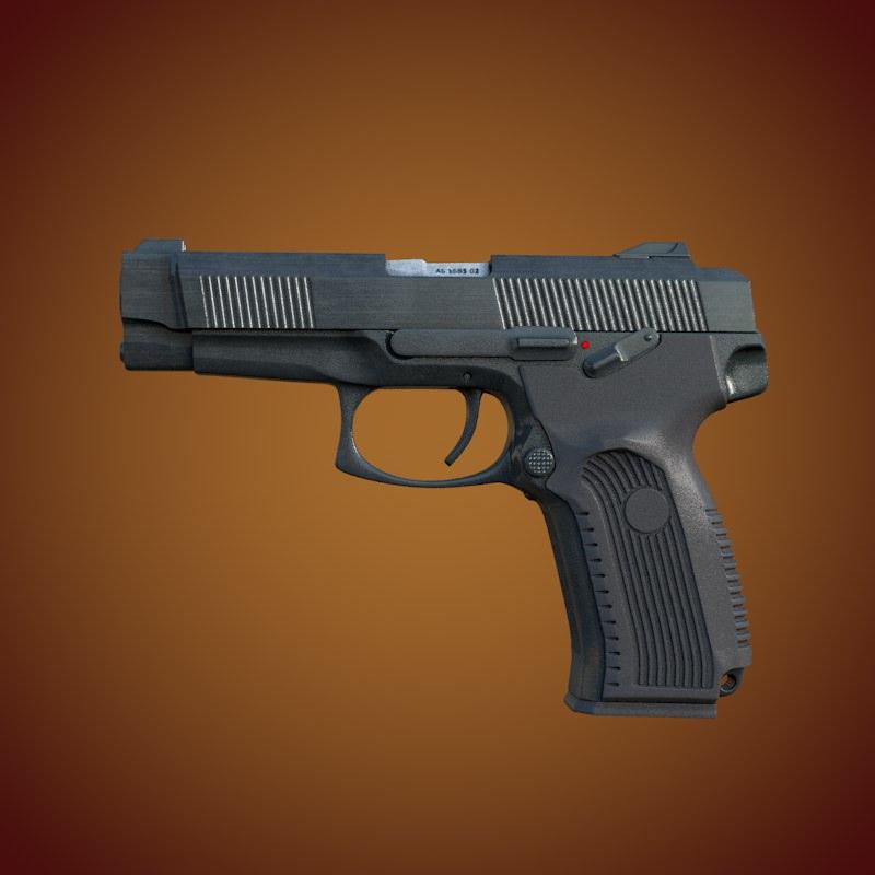 MP 443 Grach Yarygin Pistol 3D...