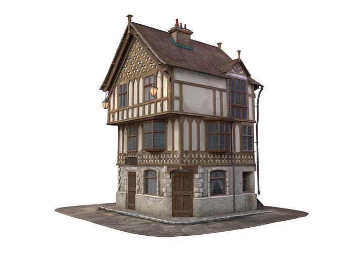 3d medieval house cgtrader for Medieval house design