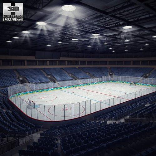 hockey arena 3d model low-poly max obj mtl 3ds fbx c4d lwo lw lws 1