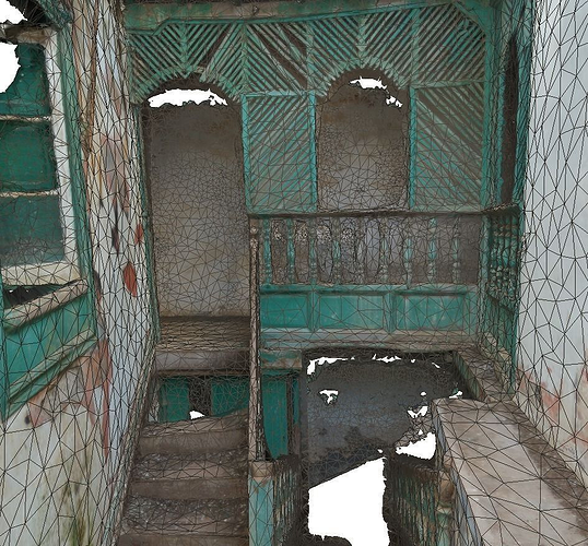 old stairway in abandoned house - lowpoly 3d model low-poly obj mtl 1