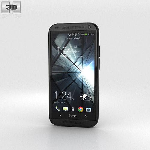 htc desire 601 black 3d model max obj 3ds fbx c4d lwo lw lws 1