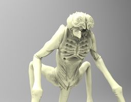 alien creature  3d printable model