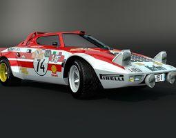 Lancia Stratos Marlboro 3D Model