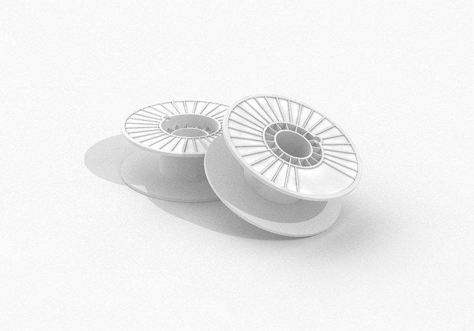 makerbot 3d printer filament spool 3d model stp 1