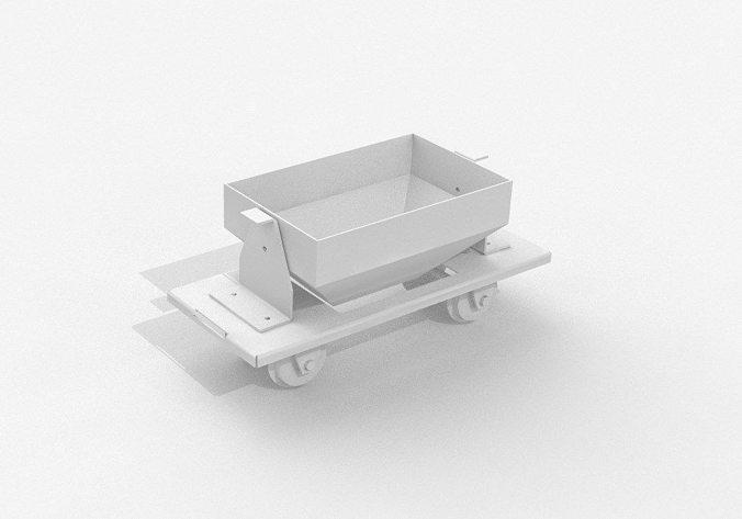 garden railway coal wagon 132 openrailway 3d model stp 1