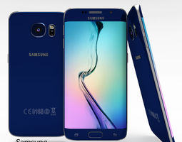 3D asset Samsung Galaxy S6 Edge Sapphire Black
