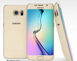 3D model Samsung Galaxy S6 Edge Gold Platinum