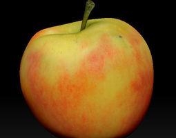 3D model red apple