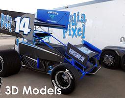 3D Model of a Sprint Car by Media Pixel 3D Model