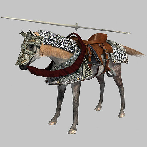 horse 3d model low-poly animated unitypackage prefab 1