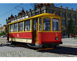 skoda retro tramway 3d model max