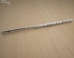 flute 3d asset low-poly