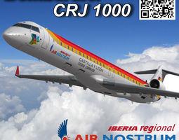 Bombardier CRJ 1000 Air Nostrum 3D asset