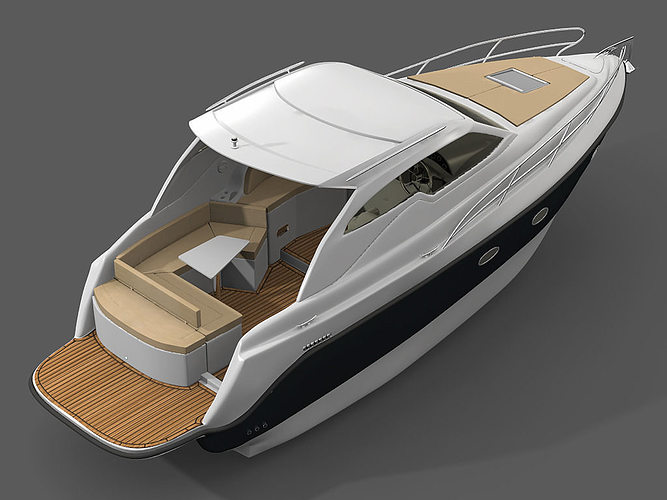 yacht 3d model obj mtl jas 1