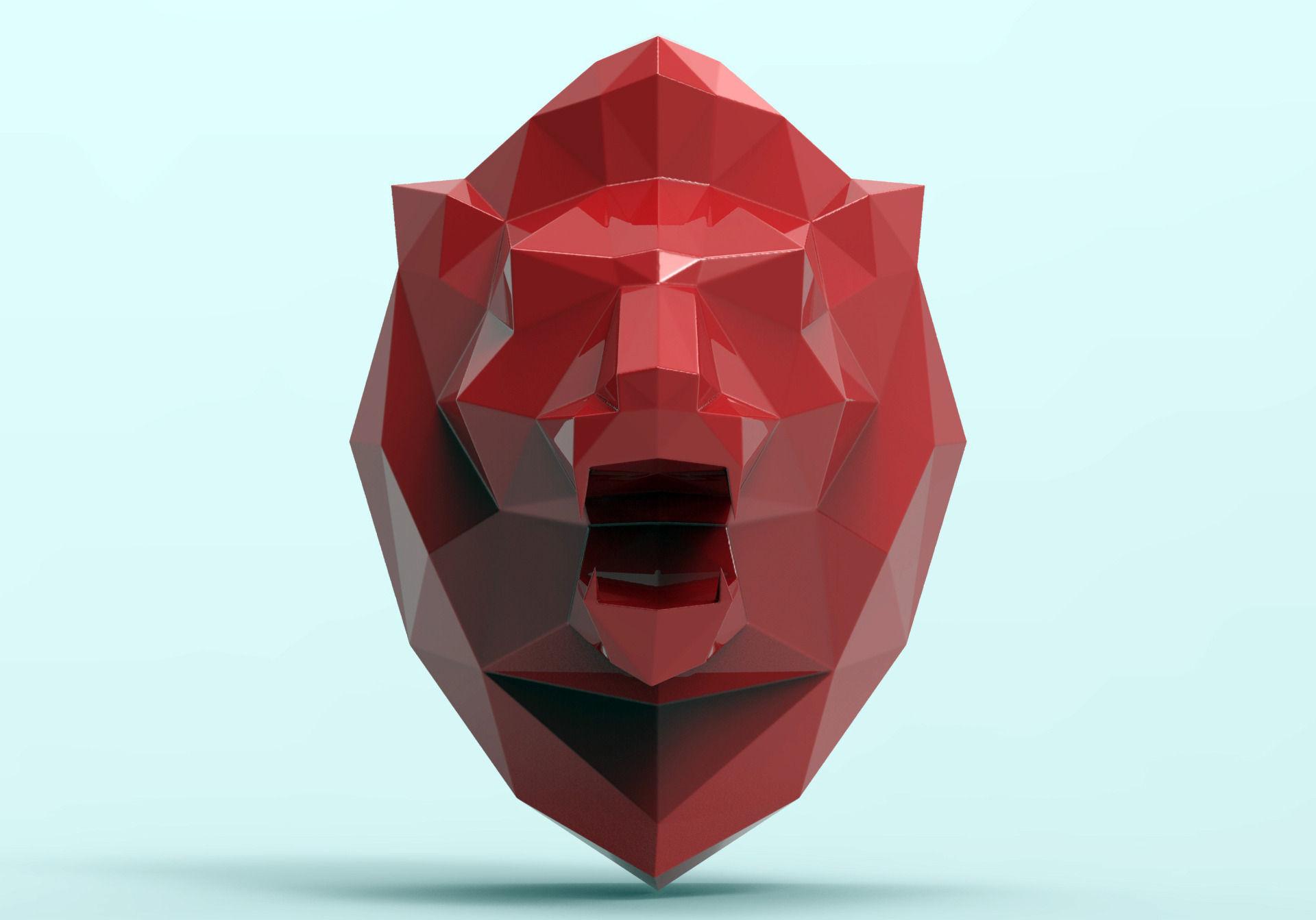 lion head free 3d model 3d printable obj stl