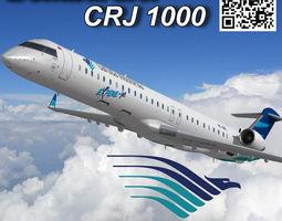 3D asset Bombardier CRJ 1000 Garuda Indonesia