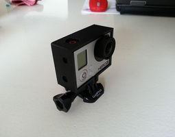 3d printable model gopro hero 3 frame