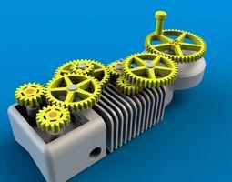 printorv2 3d printable internal combustion engine 3d print model