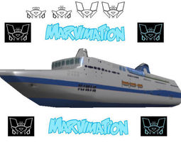 Crusie Ship Paper Cut Out 3D model