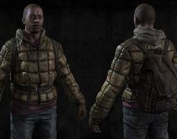 3d model realtime black man sur