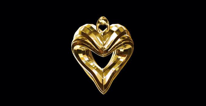 3D Model Heart Pendant