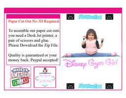 Disney Gym Girl Paper Cut Out 3D model