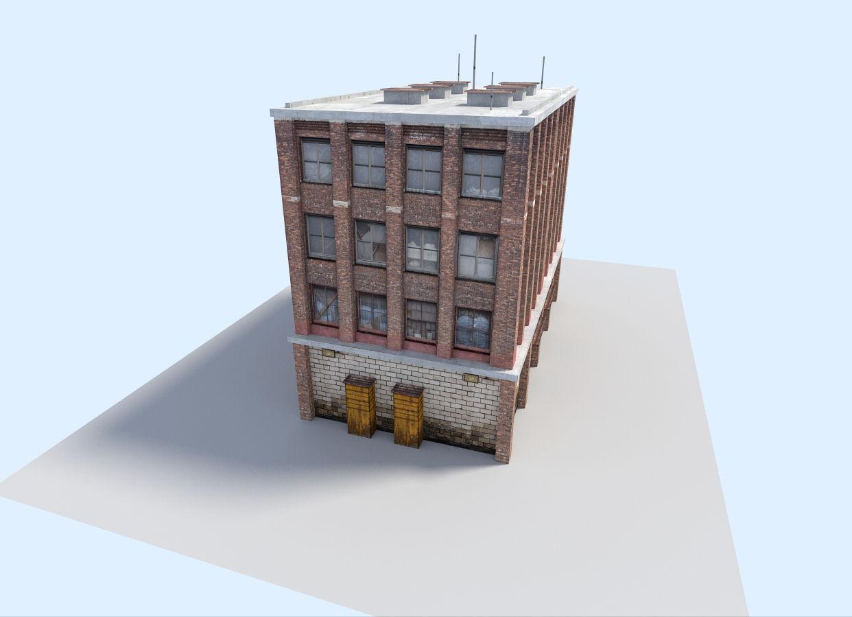 3d model city flat house vr ar low poly obj 3ds fbx for Model of flat