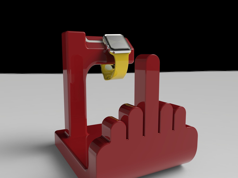 F Off Watch Holder 3d Model 3d Printable Obj 3ds Fbx Stl X