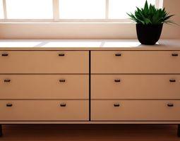 Dresser from bedroom 3D asset