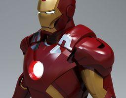 iron man mark 7 3d model max obj 3ds fbx blend