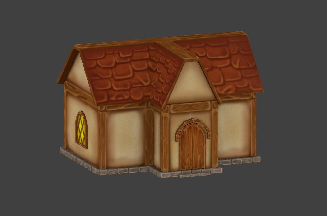 Simple House 3d Model Game Ready Building Cgtrader