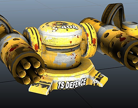 3D asset Rocket Turrets