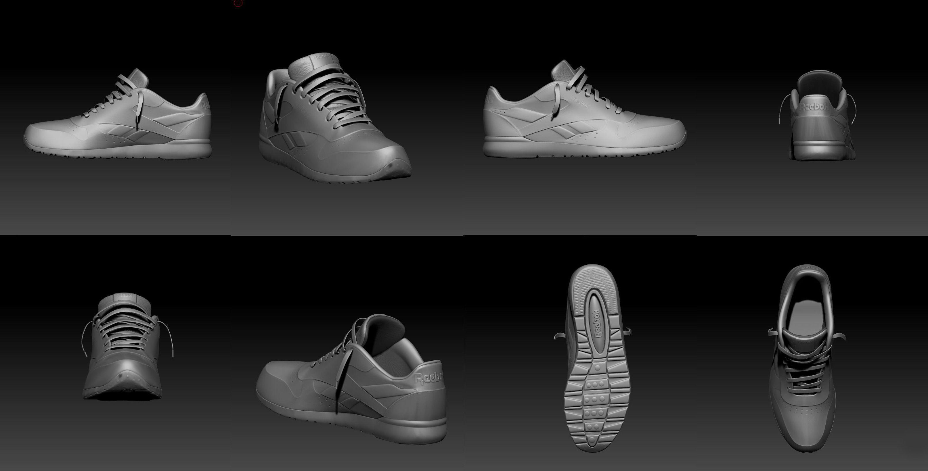 Sport Shoe D Model Free Download